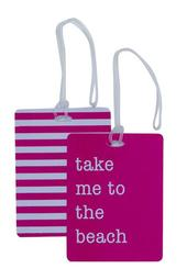 2-Piece Luggage Tag Set - Fuchsia