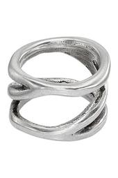 Silver-Plated Endless Ring