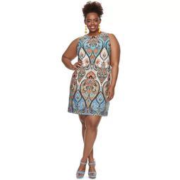 Plus Size Suite 7 Paisley Shift Dress