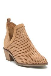 Neriah Perforated Suede Bootie