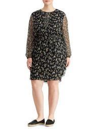 Plus Floral Georgette Dress