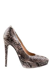 Zona Snake Embossed Leather Pump