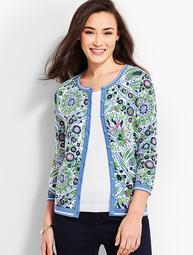 Charming Cardigan - Blooming Paisley