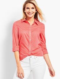 Classic Button Front Shirt - Dancing Dot