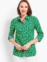 Classic Button Front Shirt - Ladybug Hearts