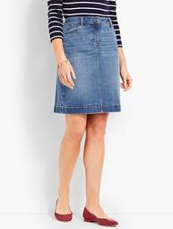 Denim Pencil Skirt - True Blue Wash