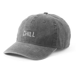"Women's SO® Embroidered ""Chill"" Washed Denim Baseball Cap"
