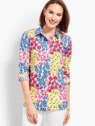 Classic Cotton Shirt-Vintage Floral