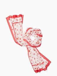 Tossed Berry Oblong Scarf