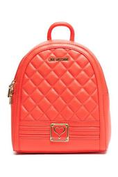 Quilted Orange Backpack