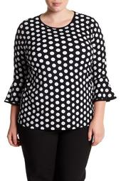Polka Dot Blouse (Plus Size)