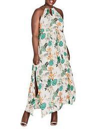 Plus Jungle Study Maxi Dress