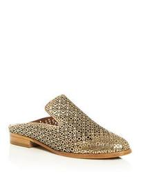 Women's Asier Perforated Patent Leather Mules