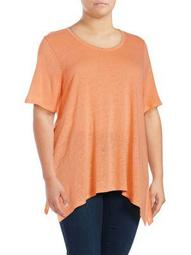 Plus Flyaway Short-Sleeve Top