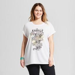 Women's Harry Potter Plus Size The Wand Chooses You Short Sleeve Crew Neck T-Shirt (Juniors') White