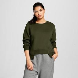 Hunter for Target Women's Plus Size Deconstructed Sweatshirt - Olive
