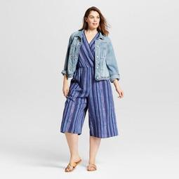 45f51a26643 Universal Thread™ Women s Plus Size Striped Wrap Front Jumpsuit -