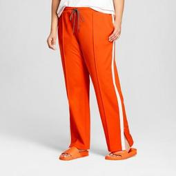 1ee590671c3 Hunter for Target Women s Plus Size Tapered Side Snap Track Pants - Orange