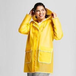 Hunter for Target Women's Plus Size Rain Coat - Yellow
