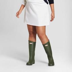 Hunter for Target Women's Plus Size Scuba Mini Skirt - White