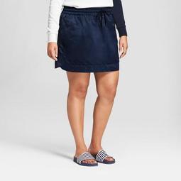 Hunter for Target Women's Plus Size Sport Satin Skirt - Navy