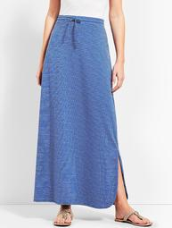 Velocity Stripe Maxi Skirt