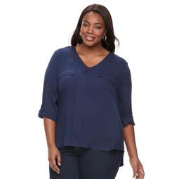 Plus Size Kate and Sam Quarter-Zip Top