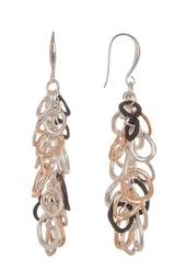 Tricolor Chain Drop Earrings