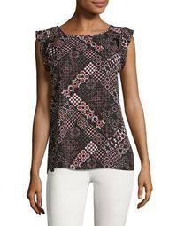 Plus Moroccan Printed Sleeveless Top