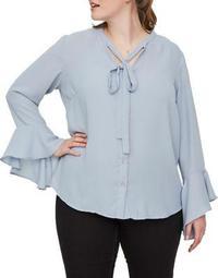 Plus Evelina Long-Sleeve Button-Down Shirt
