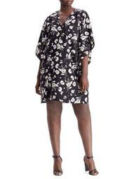 Plus Floral Printed Shift Dress
