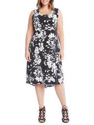 Plus Hi-Lo Hem Midi Dress