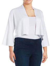 Plus Bell-Sleeve Open Front Cardigan