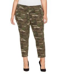 Plus Cropped Skinny Cargo Pants