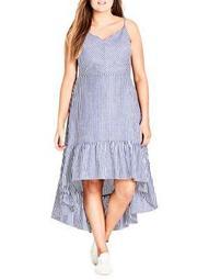 Plus Mallorca Striped Maxi Dress