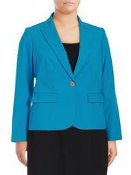 Plus One-Button Jacket