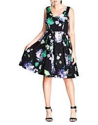 Plus Cinematic Floral Dress