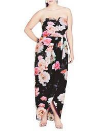 Plus Tulip Floral Maxi Gown