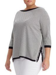 Plus Stripe Sweater