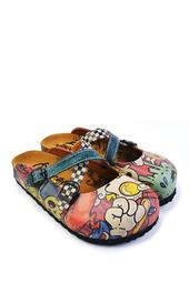 Hand Painted Leather Clog