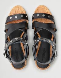 AE Studded Block Heel Sandal