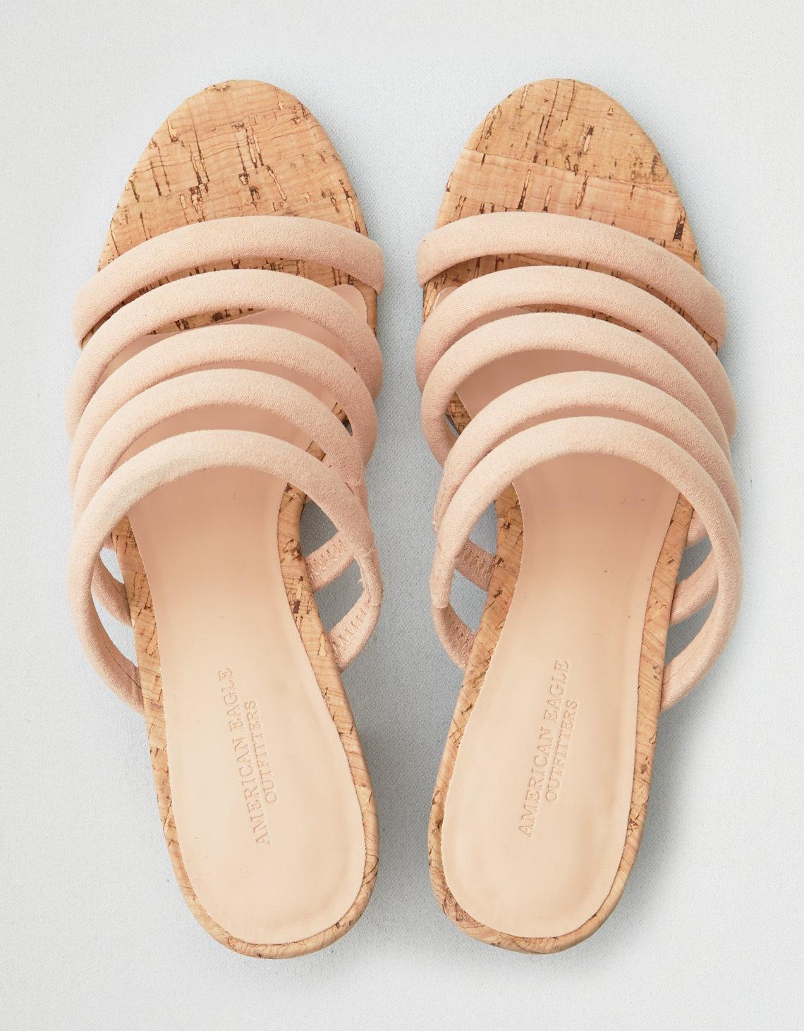 9e37e06ce1a American Eagle AEO Strappy Mule Block Heel Sandal