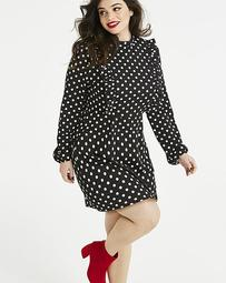 AX Paris Curve Polka Dot Balloon Sleeve Dress
