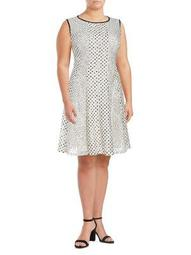 Plus Polka Dots A-Line Dress