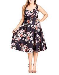 Plus Poppy Bloom Sleeveless Dress