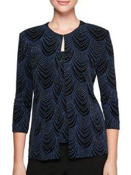 Plus Two-Piece Printed Jacket and Camisole