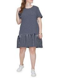 Plus Domias Short-Sleeve Above-the-Knee Dress