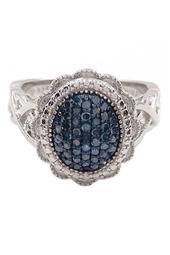 Weave Design Blue Diamond Ring - 0.25 ctw