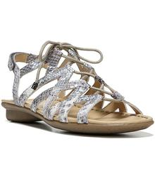 Naturalizer Whimsy Metallic Ghillie Sandals