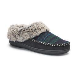Women's Dearfoams Faux Fur Lined Jacquard Clog Slippers
